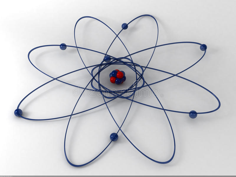 τρισδιάστατο μόριο διανυσματική απεικόνιση