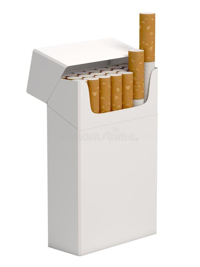 τρισδιάστατο πακέτο cigarrettes διανυσματική απεικόνιση