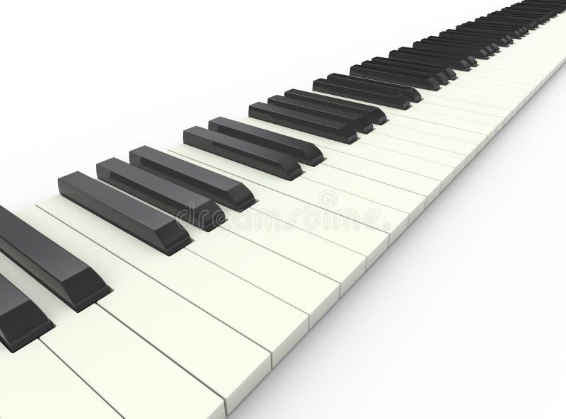 τρισδιάστατο πιάνο πληκτρολογίων απεικόνιση αποθεμάτων