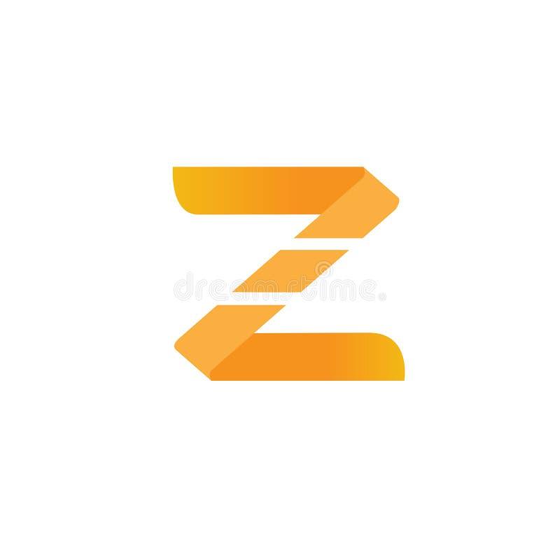 τρισδιάστατο πορτοκαλί πρότυπο λογότυπων Ζ στοκ φωτογραφίες με δικαίωμα ελεύθερης χρήσης