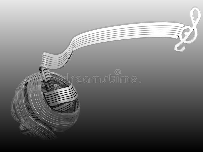 τρισδιάστατο πρίμο clef στοκ φωτογραφία με δικαίωμα ελεύθερης χρήσης