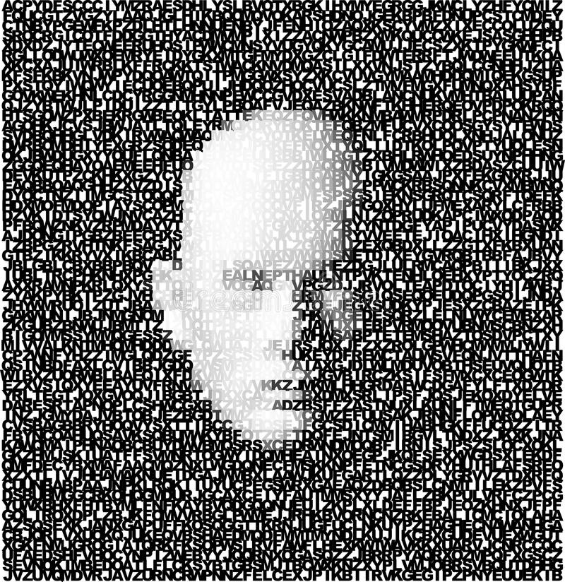 τρισδιάστατο πρόσωπο που γίνεται ââof τις επιστολές διανυσματική απεικόνιση
