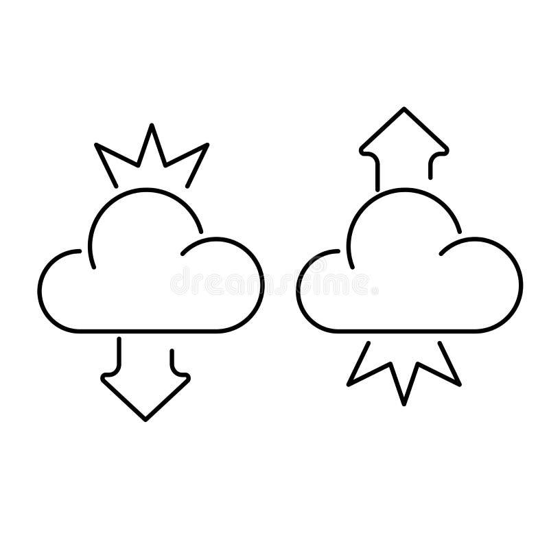 τρισδιάστατο πρότυπο λευκό εικονιδίων σύννεφων απεικόνιση αποθεμάτων