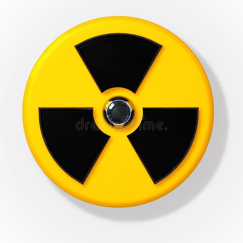 τρισδιάστατο πυρηνικό ραδιενεργό σημάδι ακτινοβολίας ελεύθερη απεικόνιση δικαιώματος