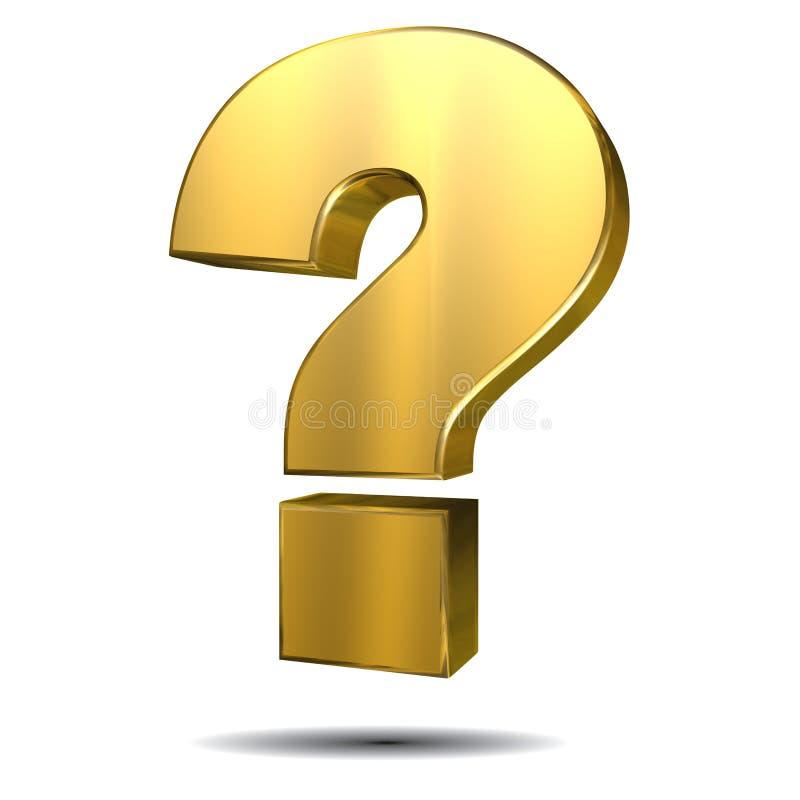 τρισδιάστατο σημάδι ερώτησης απεικόνισης σφαιρών τέχνης απεικόνιση αποθεμάτων