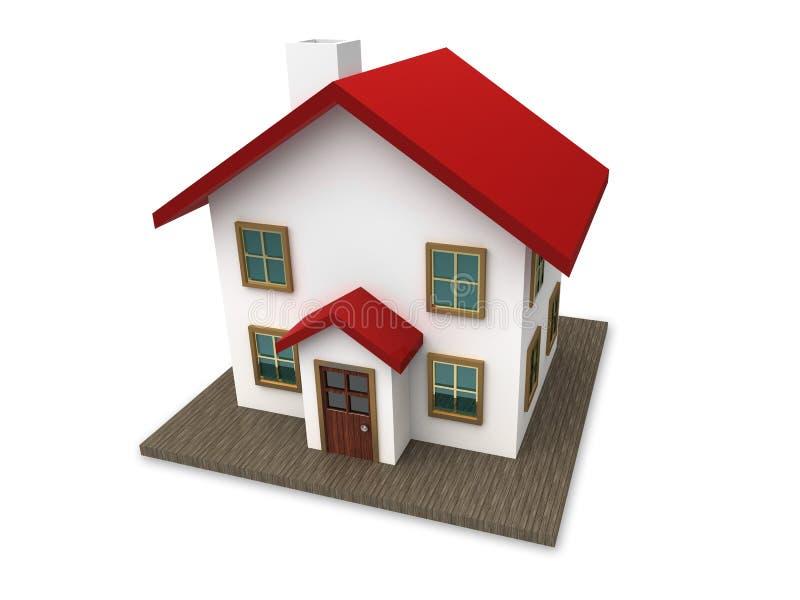 τρισδιάστατο σπίτι μικρό διανυσματική απεικόνιση