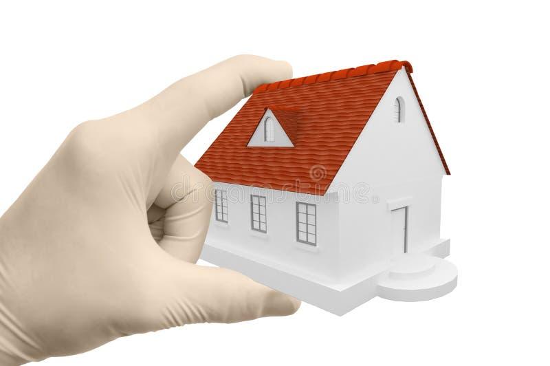 τρισδιάστατο σπίτι χεριών στοκ φωτογραφία