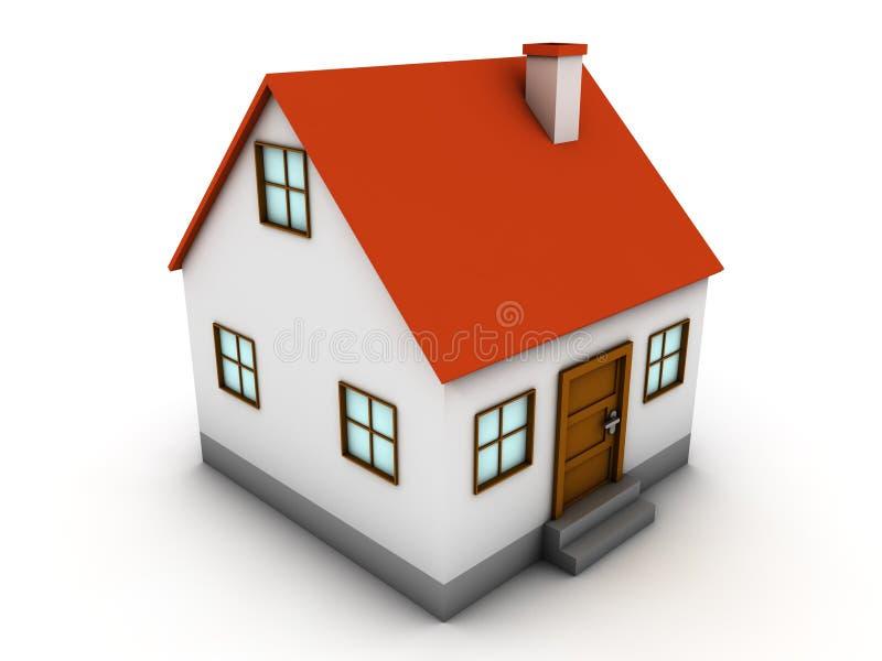 τρισδιάστατο σπίτι διανυσματική απεικόνιση