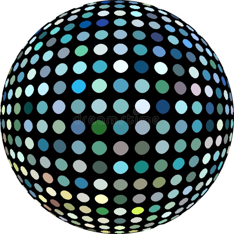 τρισδιάστατο σφαιρών σχέδιο μωσαϊκών γυαλιού μπλε E ελεύθερη απεικόνιση δικαιώματος