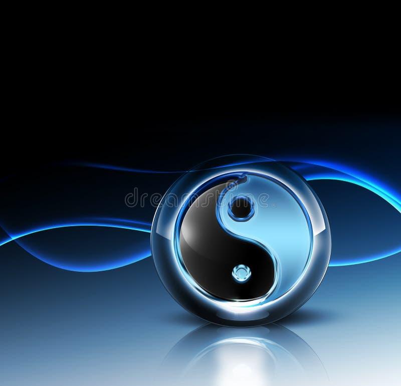 τρισδιάστατο σύμβολο yang yin διανυσματική απεικόνιση