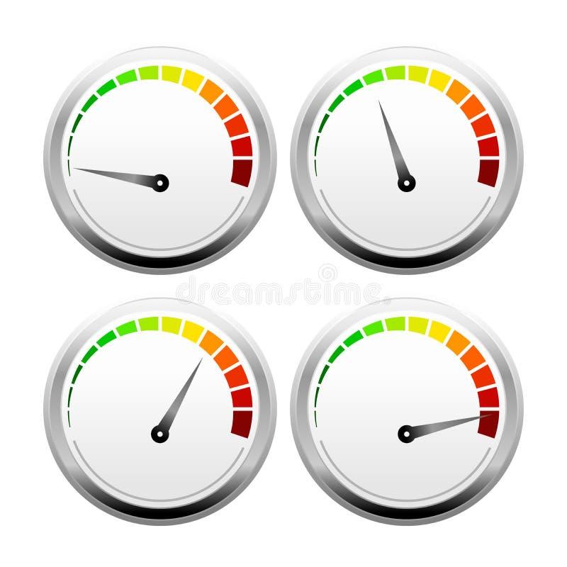 τρισδιάστατο ταχύτητας πρότυπο σχεδίου μετρητών διανυσματικό απεικόνιση αποθεμάτων