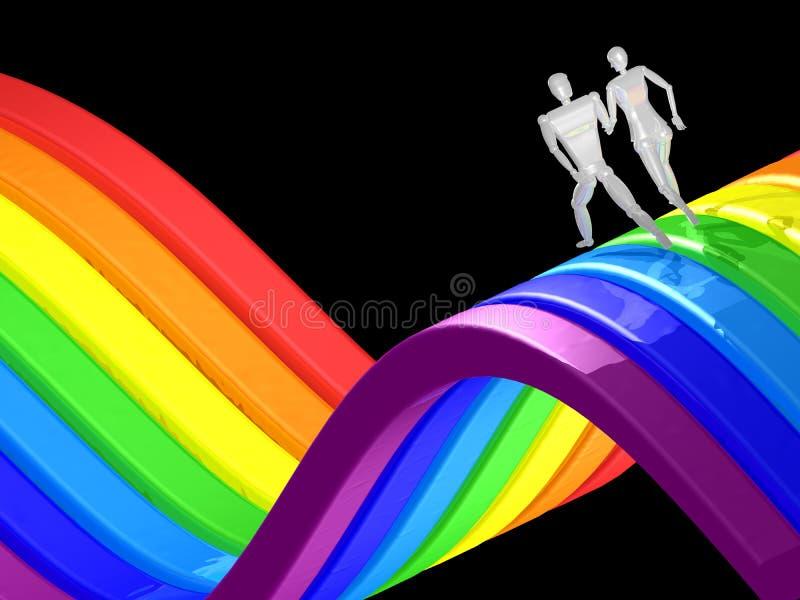 τρισδιάστατο τρέξιμο ουρά στοκ εικόνες με δικαίωμα ελεύθερης χρήσης