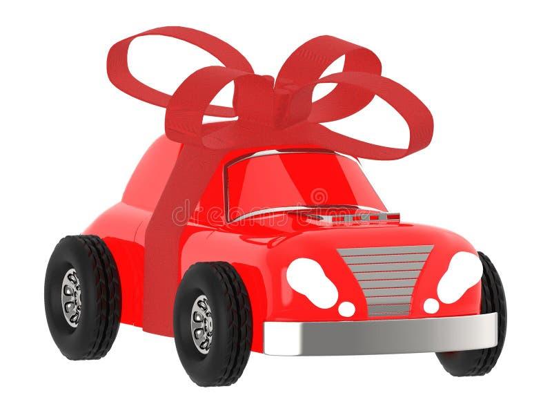 τρισδιάστατο τυλιγμένο κορδέλλα αυτοκίνητο απεικόνιση αποθεμάτων