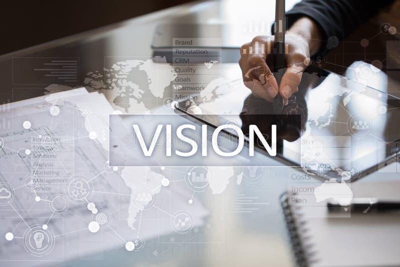 τρισδιάστατο χέρι έννοιας επιχειρηματιών που δείχνει τη λέξη οράματος Επιχείρηση, Διαδίκτυο και έννοια τεχνολογίας στοκ φωτογραφίες με δικαίωμα ελεύθερης χρήσης