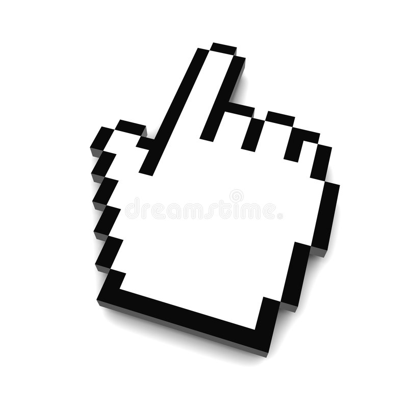 τρισδιάστατο χέρι δρομέων &up διανυσματική απεικόνιση