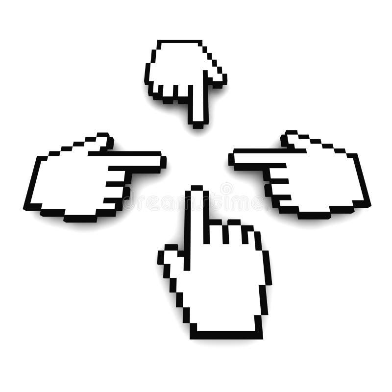 τρισδιάστατο χέρι δρομέων &up ελεύθερη απεικόνιση δικαιώματος