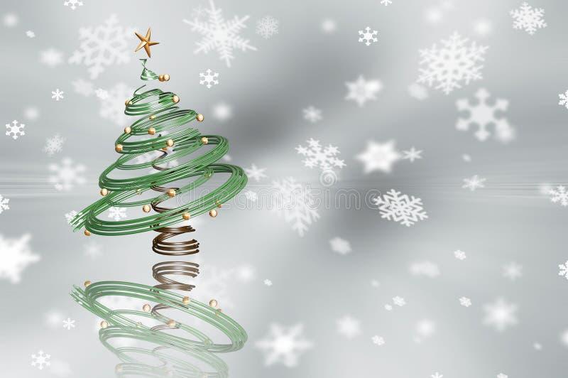 τρισδιάστατο χριστουγεννιάτικο δέντρο απεικόνιση αποθεμάτων