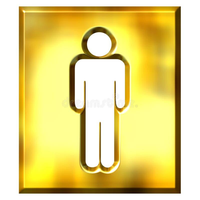 τρισδιάστατο χρυσό αρσε&nu ελεύθερη απεικόνιση δικαιώματος