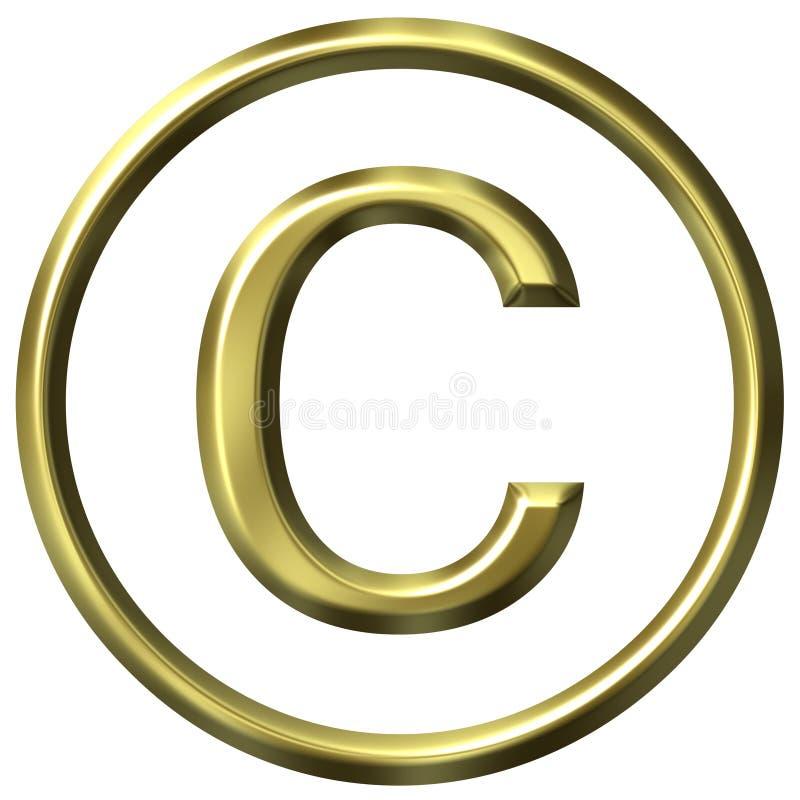 τρισδιάστατο χρυσό σύμβο&lam απεικόνιση αποθεμάτων