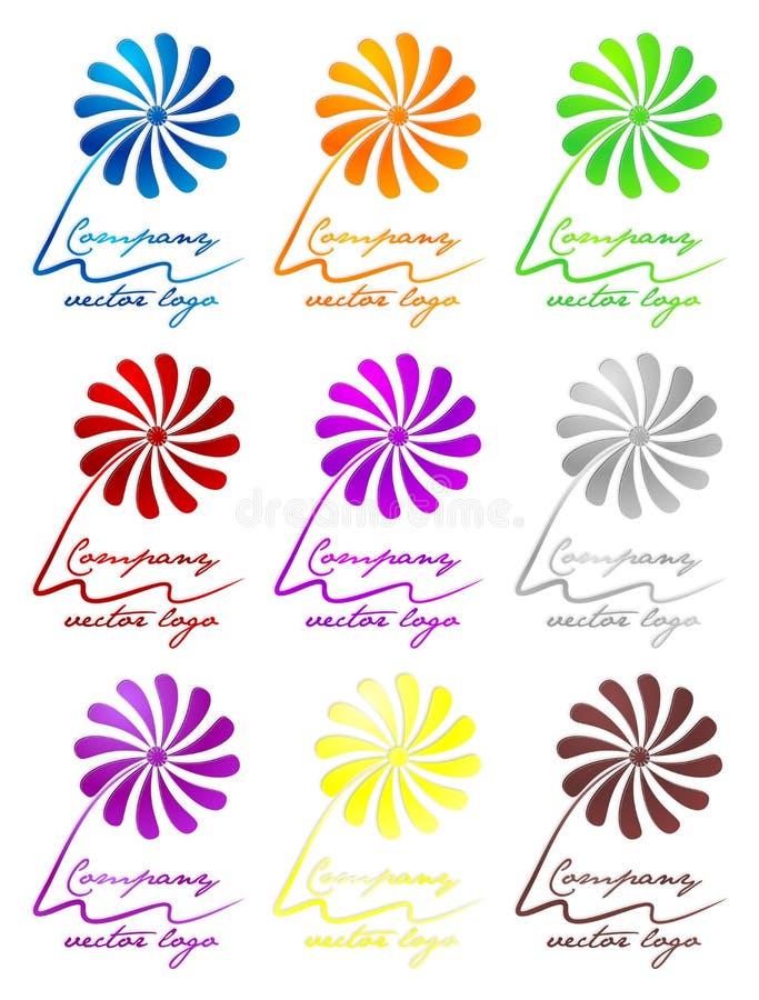 τρισδιάστατο χρωματισμένο λογότυπο λουλουδιών στοκ φωτογραφία με δικαίωμα ελεύθερης χρήσης