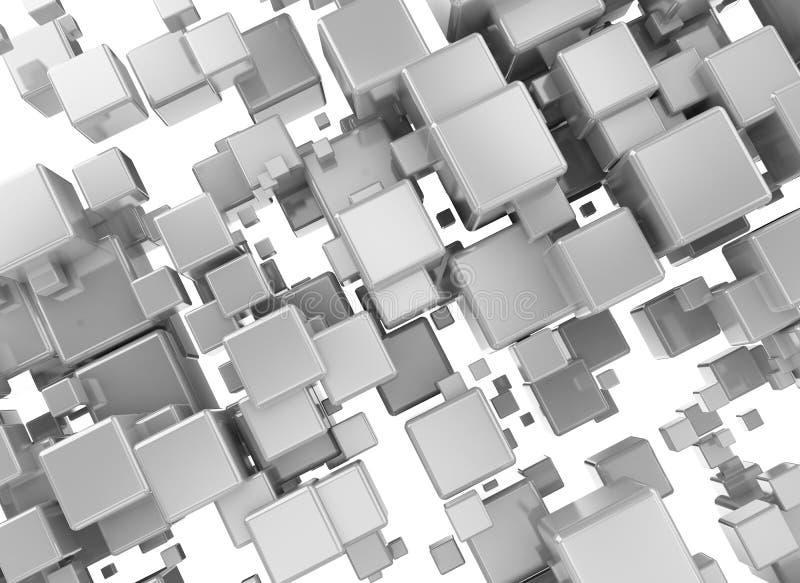 τρισδιάστατο χρώμιο κύβων απεικόνιση αποθεμάτων