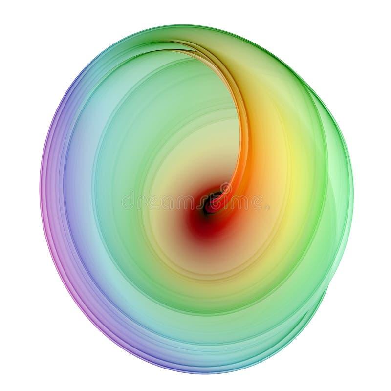 τρισδιάστατο όμορφο fractal πο&ups διανυσματική απεικόνιση