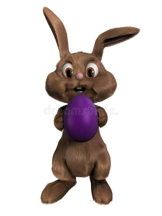 τρισδιάστατο bunny Πάσχα διανυσματική απεικόνιση