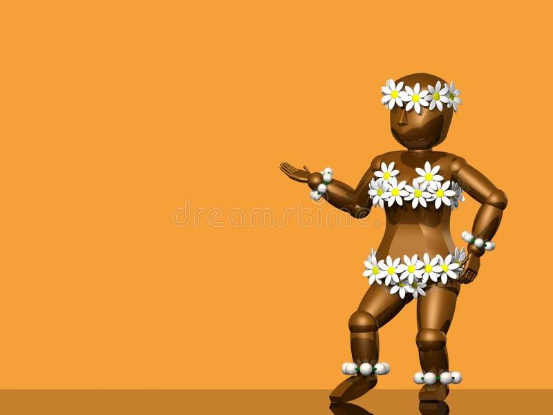τρισδιάστατο chamomile κορίτσι στοκ εικόνα με δικαίωμα ελεύθερης χρήσης