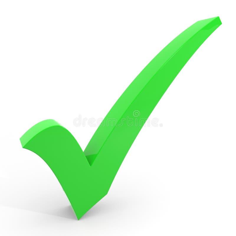 τρισδιάστατο checkmark πράσινο διανυσματική απεικόνιση