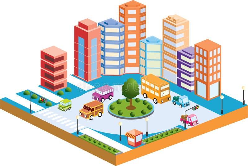 τρισδιάστατο city3 απεικόνιση αποθεμάτων