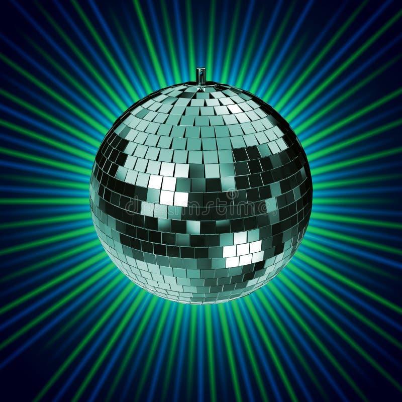 Download τρισδιάστατο Disco Mirrorball που δίνει Στοκ Εικόνες - εικόνα από μουσική, ύφος: 1545198