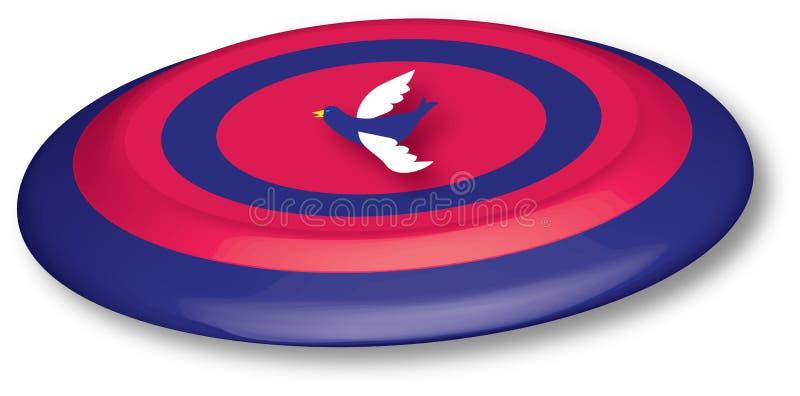 τρισδιάστατο frisbee διανυσματική απεικόνιση
