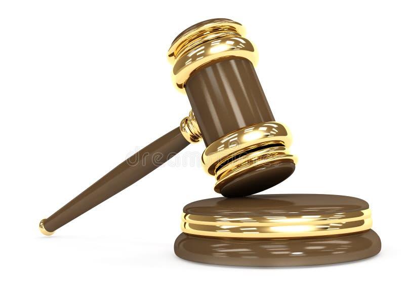 τρισδιάστατο gavel δικαστικό διανυσματική απεικόνιση