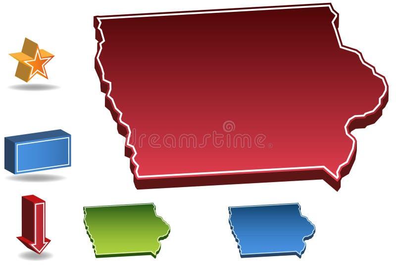 τρισδιάστατο Iowa διανυσματική απεικόνιση
