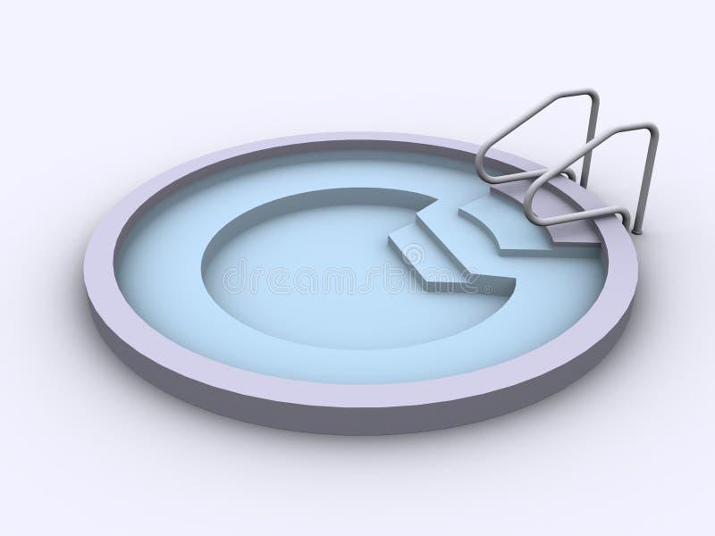 τρισδιάστατο jacuzzi απεικόνιση αποθεμάτων