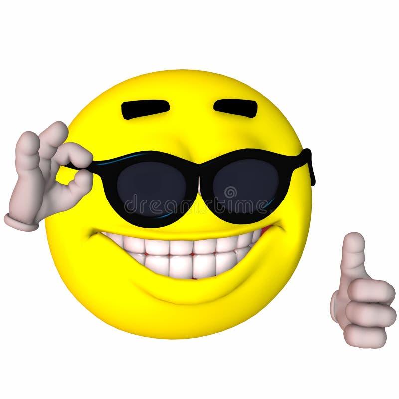 τρισδιάστατο smiley ελεύθερη απεικόνιση δικαιώματος
