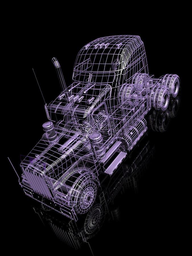 τρισδιάστατο truck διανυσματική απεικόνιση