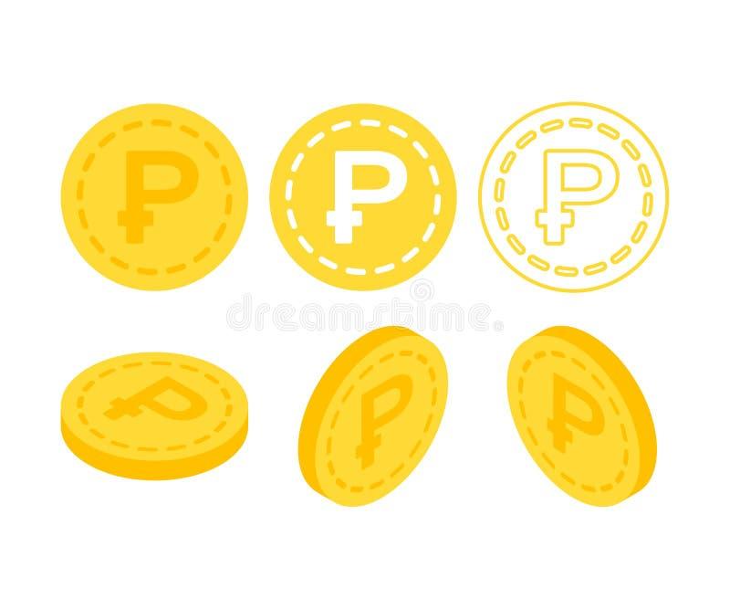 τρισδιάστατα επίπεδα isometric χρήματα διανυσματική απεικόνιση