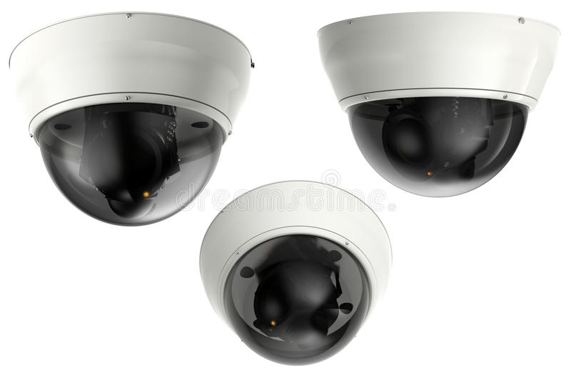 τρισδιάστατα κάμερα ασφαλείας απόδοσης ή κάμερα CCTV στοκ φωτογραφίες με δικαίωμα ελεύθερης χρήσης