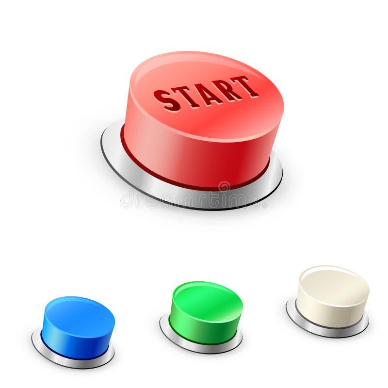 τρισδιάστατα μέγα στρογγυλά κουμπιά διανυσματική απεικόνιση