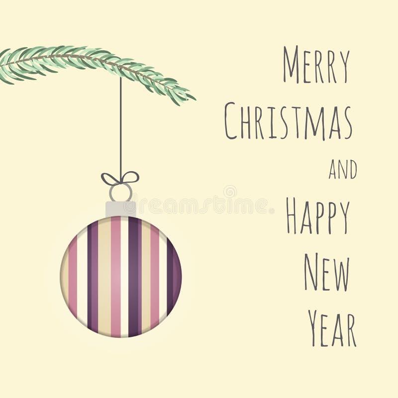 τρισδιάστατα Χριστούγεννα επίδρασης και νέα κάρτα έτους στοκ φωτογραφία με δικαίωμα ελεύθερης χρήσης