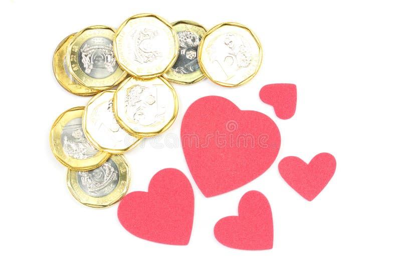 τρισδιάστατα όμορφα διαστατικά χρήματα τρία αγάπης απεικόνισης πολύ στοκ φωτογραφία