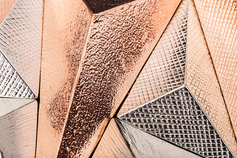Τρισδιάστατες γεωμετρικές μορφές μετάλλων στοκ εικόνες