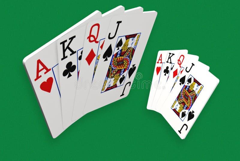 τρισδιάστατες κάρτες παιχνιδιού διανυσματική απεικόνιση