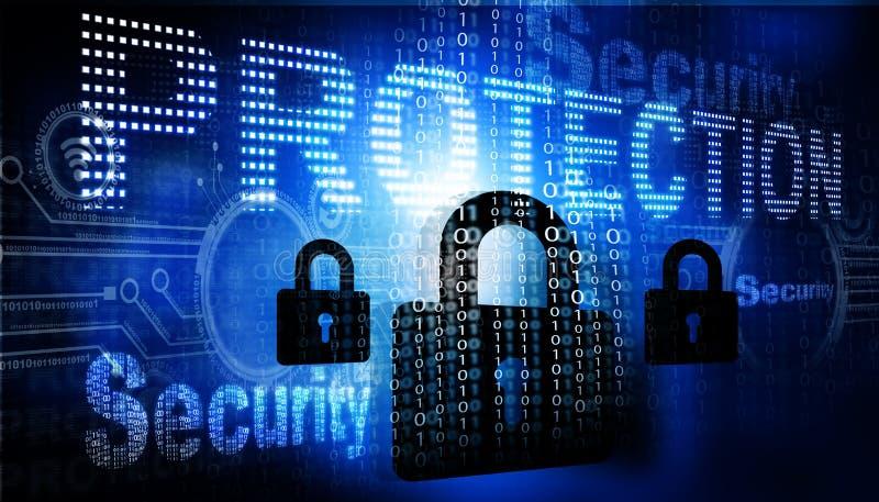 τρισδιάστατη έννοια Διαδίκτυο που δίνει την ασφάλεια