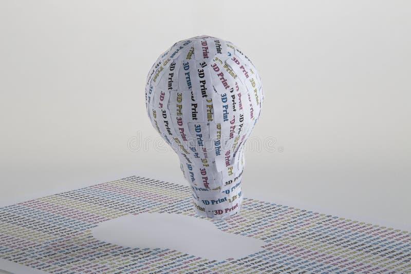 Τρισδιάστατη έννοια εκτύπωσης CYMK: lightbulb στοκ φωτογραφίες με δικαίωμα ελεύθερης χρήσης