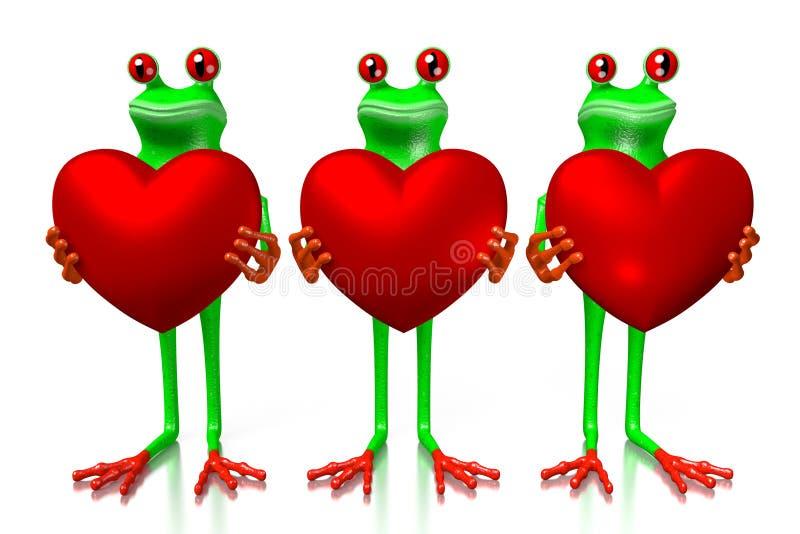 τρισδιάστατη αγάπη, έννοια καρδιών ελεύθερη απεικόνιση δικαιώματος