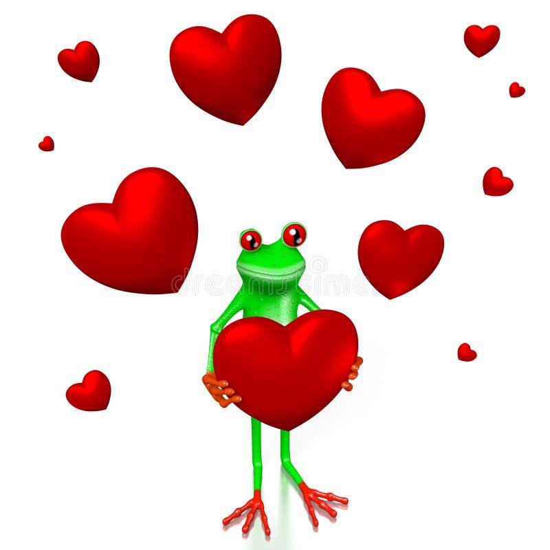 τρισδιάστατη αγάπη, έννοια καρδιών διανυσματική απεικόνιση