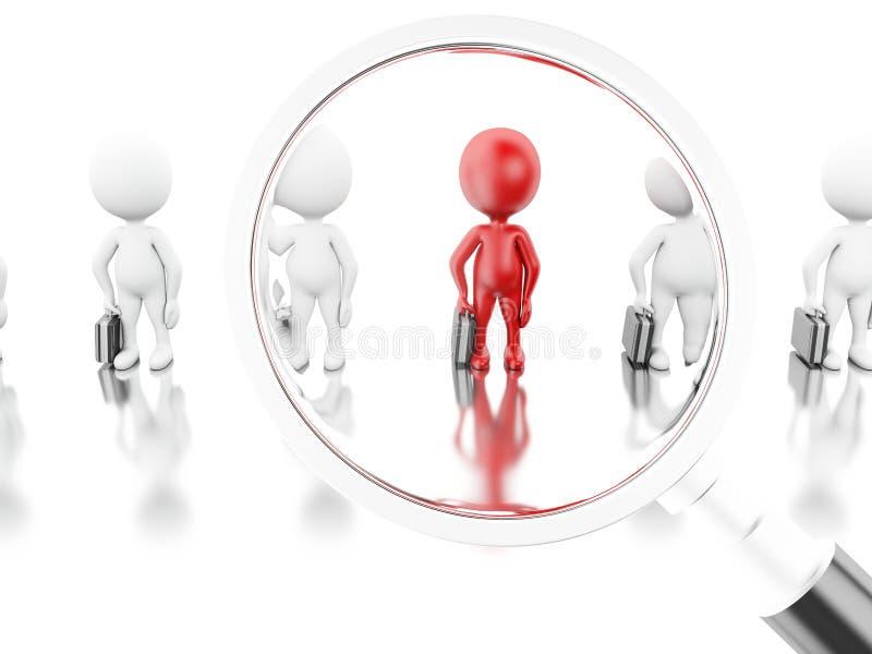 τρισδιάστατη απεικόνιση Ενίσχυση - γυαλί που παίρνει έναν νέο εργαζόμενο διανυσματική απεικόνιση