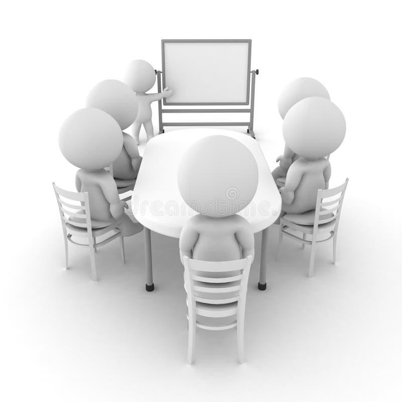 τρισδιάστατη απεικόνιση μιας παρουσίασης whiteboard διανυσματική απεικόνιση